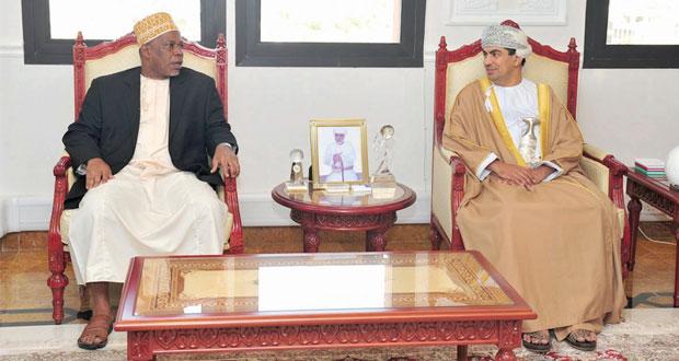 الحراصي يستقبل وزير الإعلام والثقافة والسياحة والرياضة في حكومة زنجبار