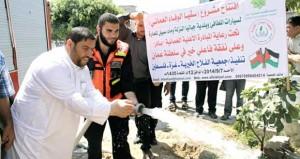 جمعية الفلاح الخيرية فـي فلسطين تدشن مشروع السقيا العماني فـي قطاع غزة