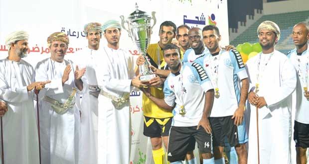 تتويج فريق الجزيرة بلقب أبطال المحافظات ببطولة شجع فريقك