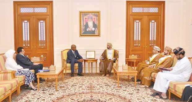 رئيس مجلس الشورى يستقبل الممثل الاقليمي للشرق الاوسط وشمال افريقيا لحقوق الانسان