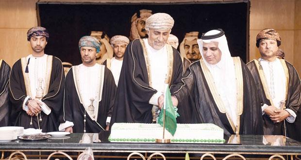 السفارة السعودية بمسقط تحتفل باليوم الوطني الـ 84 لبلادها