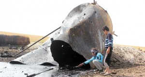 داعش تهاجم مباني حكومية في الأنبار