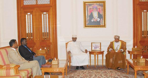 المجعلي يستقبل أعضاء من البرلمان الصومالي ومسئولا من منظمة التجارة