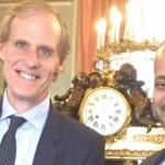 بدر بن حمد يبحث مع نظيره الفرنسي تعزيز العلاقات الثنائية بين السلطنة وفرنسا