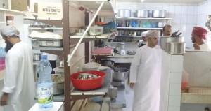 حملات تفتيش صحية على المحال التجارية بإبراء خلال عطلة عيد الاضحى