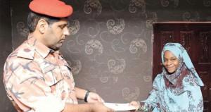 الخدمات الاجتماعية العسكرية تنظم برنامج زيارات لعدد من أسر المتوفين من رجال قوات السلطان المسلحة