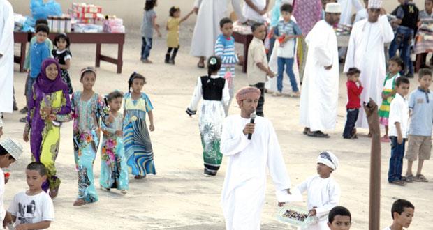 نجاح واسع لفعاليات مهرجان عيد الاضحى لفريق الطلائع البسيوي ببهلاء