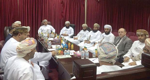 اجتماع الجمعية العمومية لمحكمة الاستئناف والمحاكم الابتدائية بجنوب الباطنة