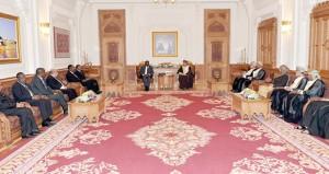 بحث وسائل تعزيز التعاون الثنائي وتفعيل الاتفاقيات القائمة بين البلدين..في جلسة مباحثات رسمية بين السلطنة وتنزانيا