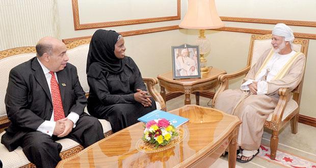 يوسف بن علوي يستقبل رئيسة البرلمان التنزاني