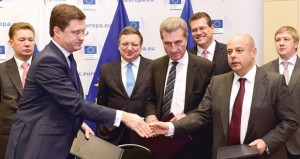 اتفاق روسي أوكراني على مخرج مؤقت لأزمة الغاز