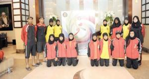 منتخب الفتيات للكرة الطائرة يستعد للمشاركة في البطولة الخليجية بالبحرين