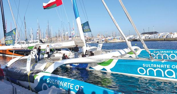 """تواصل استعدادات القارب """"مسندم"""" لانطلاقة سباق """"روت دو رم"""" من فرنسا نحو جزر الكاريبي"""