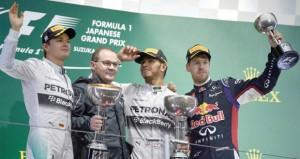 في جائزة اليابان الكبرى .. هاميلتون يتفوق على روزبرج تحت الأمطار في سباق لم يكتمل