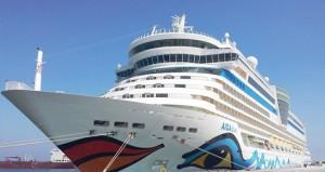 ميناء صلالة يستقبل السفينة السياحية عايدة ديفا على متنها 2050 سائحا