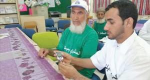 محاضرات توعوية ومسير صحي بمدرسة عثمان بن مظعون بنيابة الحوقين