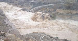 أمطار غزيرة أمس الأول على وادي الحوقين والرستاق ومناطق عديدة بجنوب الباطنة