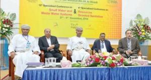 تدشين المؤتمر الدولي التخصصي الثاني عشر حول الأنظمة الصغيرة للمياه والصرف الصحي