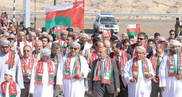 تواصل مسيرات الولاء والعرفان بمناسبة إطلالة جلالته والعيد الوطني المجيد