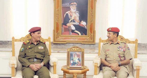 النبهاني والبلوشي والرئيسي يستقبلون وفد الأكاديمية العسكرية اليمنية