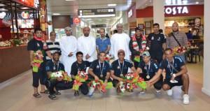 وزارة الشؤون الرياضية تحتفل باستقبال منتخب اليد الشاطئية