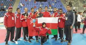 ذهبية وفضية وثلاث برونزيات لمنتخب التايكواندو في البطولة الخليجية بالبحرين