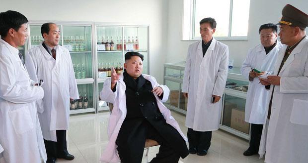 الرئيس الكوري الشمالي كيم جونج اون..
