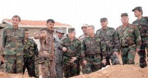 الجيش السوري يقضي على إرهابيين بعدد من المناطق ورئيس الأركان يتفقد جبل الشاعر