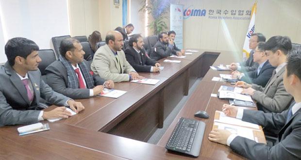 رجال الأعمال بمحافظة الوسطى يتعرفون على الفرص الاستثمارية والاقتصادية في كوريا الجنوبية