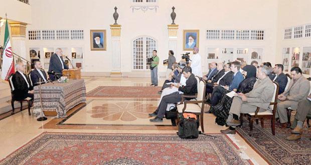 يوسف بن علوي يستقبل مساعد وزير الخارجية الإيراني