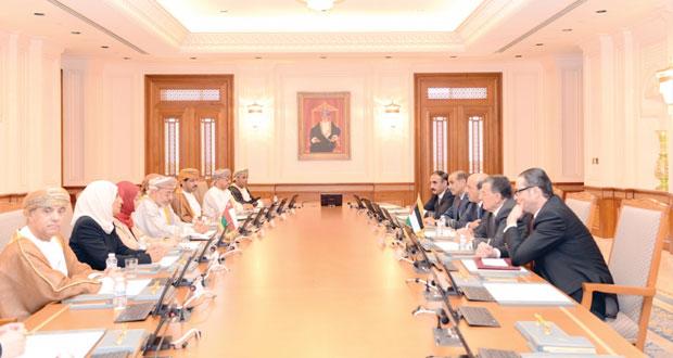 جلسة مباحثات بين السلطنة والأردن في المجال البرلماني