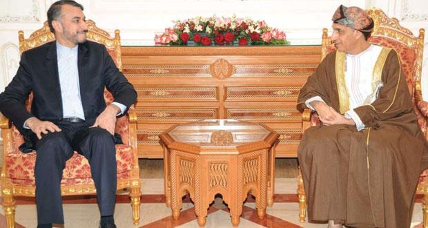 فهد بن محمود يتسلم رسالة خطية من النائب الأول للرئيس الإيراني