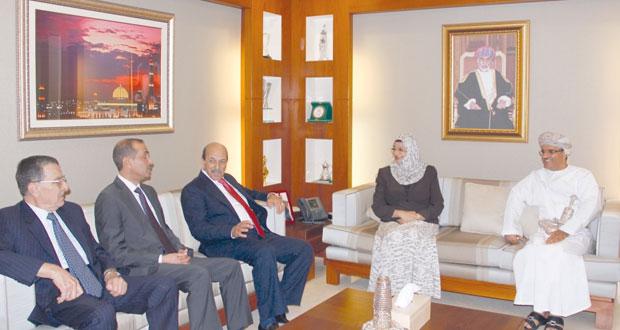 راوية البوسعيدية تستقبل وفد مجلس الأعيان الأردني