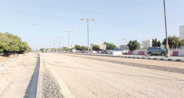 تواصل الأعمال بمشروع توسعة شارع الرباط في الجزء الممتد من دوار النهضة وصولاً إلى تقاطع إشارات شارع إتين
