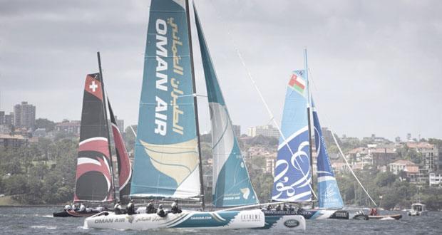 صعود القارب الموج مسقط إلى المقدّمة بإجمالي نقاط الجولة