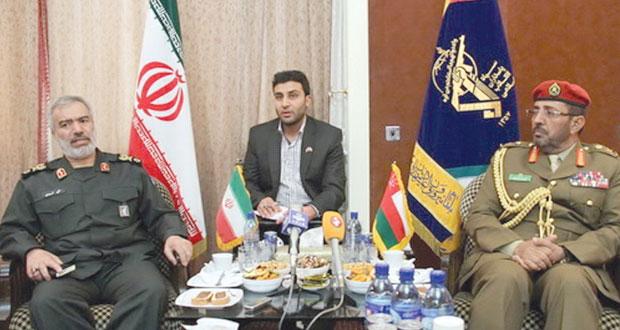 سالم قطن يلتقي قائد القوة البحرية الإيراني