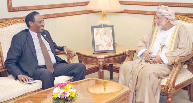 يوسف بن علوي يستقبل وزير الخارجية والاستثمار الصومالي