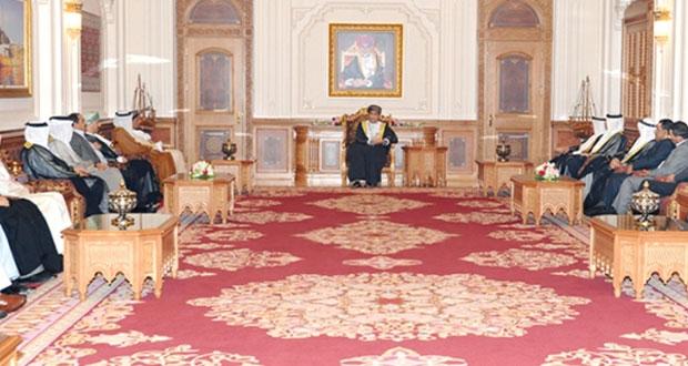 فهد بن محمود يستقبل رؤساء تحرير الصحف الخليجية ووزير العدل الأردني