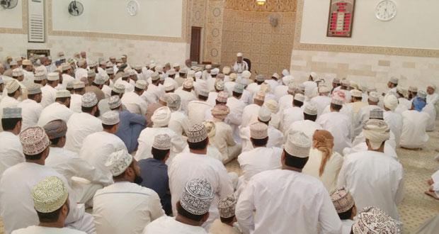 بتكلفة 130 ألف ريال عماني افتتاح مسجد النهروان بقرية الوشيل بولاية الرستاق