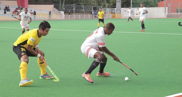 منتخبنا الوطني للهوكي الأول يخسر أمام المنتخب الماليزي في لقائه الثاني