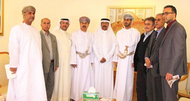 سعد المرضوف يستقبل رؤساء وفود البطولة العربية الثانية للكرة الطائرة الشاطئية