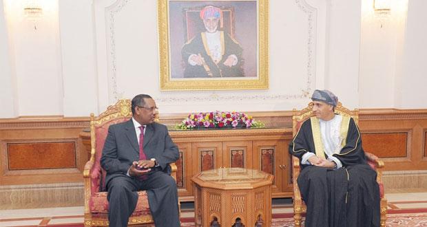 فهد بن محمود يستقبل رئيس المجلس الوطني السوداني