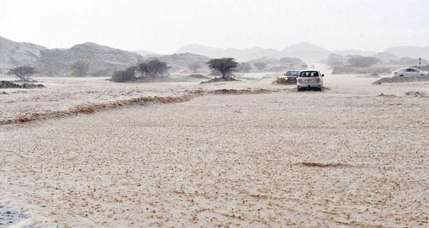 أمطار الخير تهطل على عدد من ولايات السلطنة