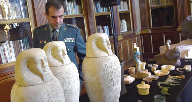 وزارة الآثار المصرية تعمل على استعادة 36 قطعة أثرية مهربة إلى اسبانيا