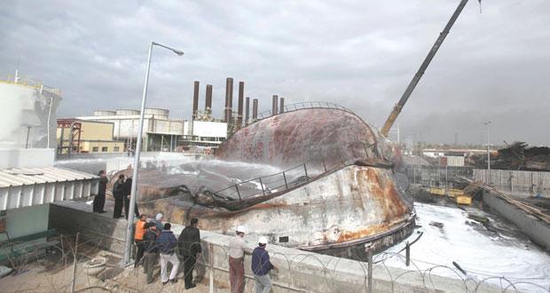 اندلاع حريق في محطة توليد الكهرباء بغزة
