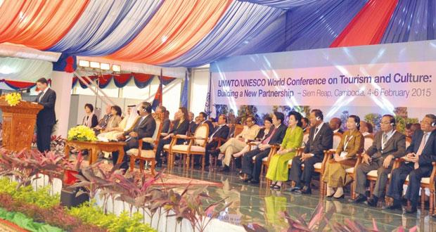 """السلطنة تشارك في """"المؤتمر العالمي للسياحة والثقافة: تكوين شراكة جديدة"""" بكمبوديا"""