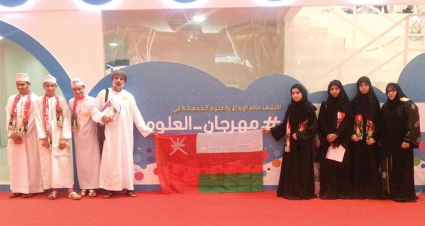 السلطنة تحصد درع المشاركة المتميزة في المهرجان السعودي للعلوم والإبداع