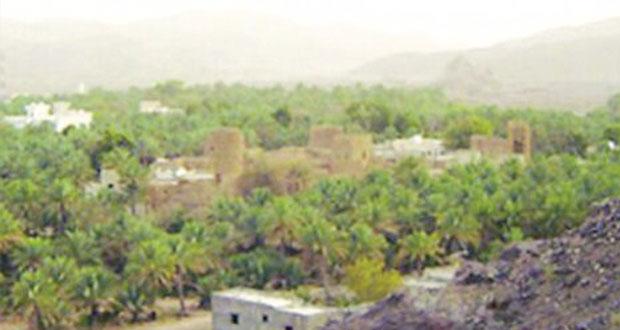 قرية البانة بعبري طبيعة جمالية وإمتزاج تراثي بين الجبال والسهول والوديان وابراجها الأثرية القديمة