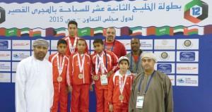 فوز منتخبنا الوطني للمراحل السنية بالمركز الثالث ببطولة الخليج لسباحة المجرى القصير بدبي