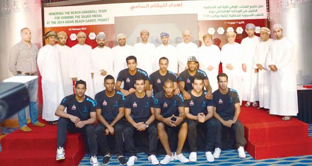 الاحتفال بتكريم نجوم منتخبنا الوطني لكرة اليد الشاطئية الحاصل على الفضية الآسيوية
